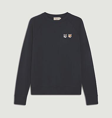 Sweatshirt en coton avec double logo