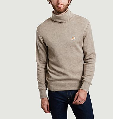 Fox Head merino wool turtleneck sweater