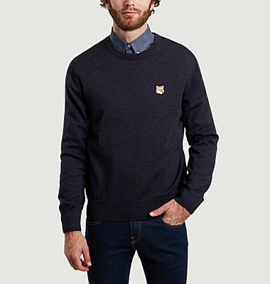 Merino wool logo sweater