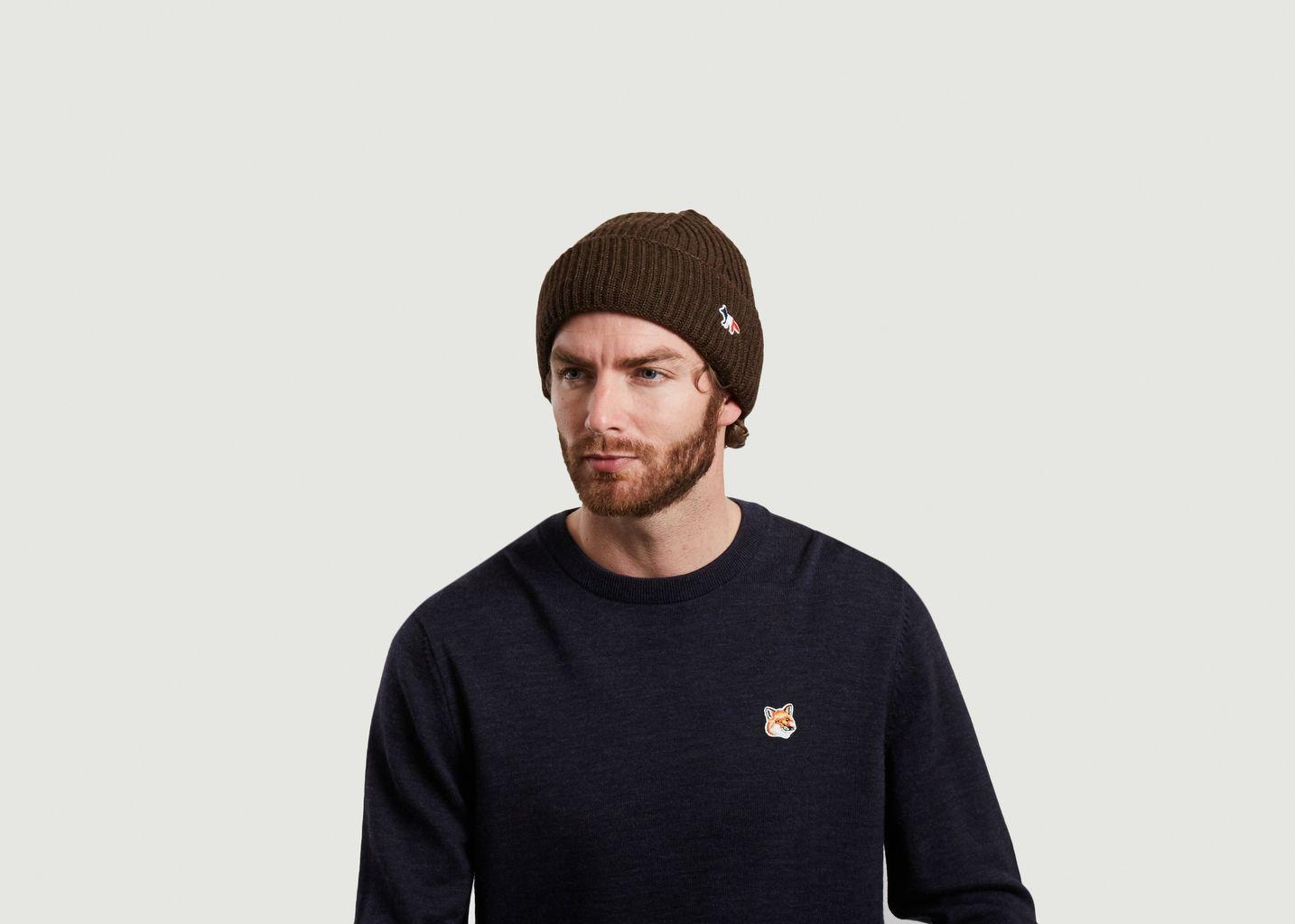 Bonnet logotypé en laine - Maison Kitsuné