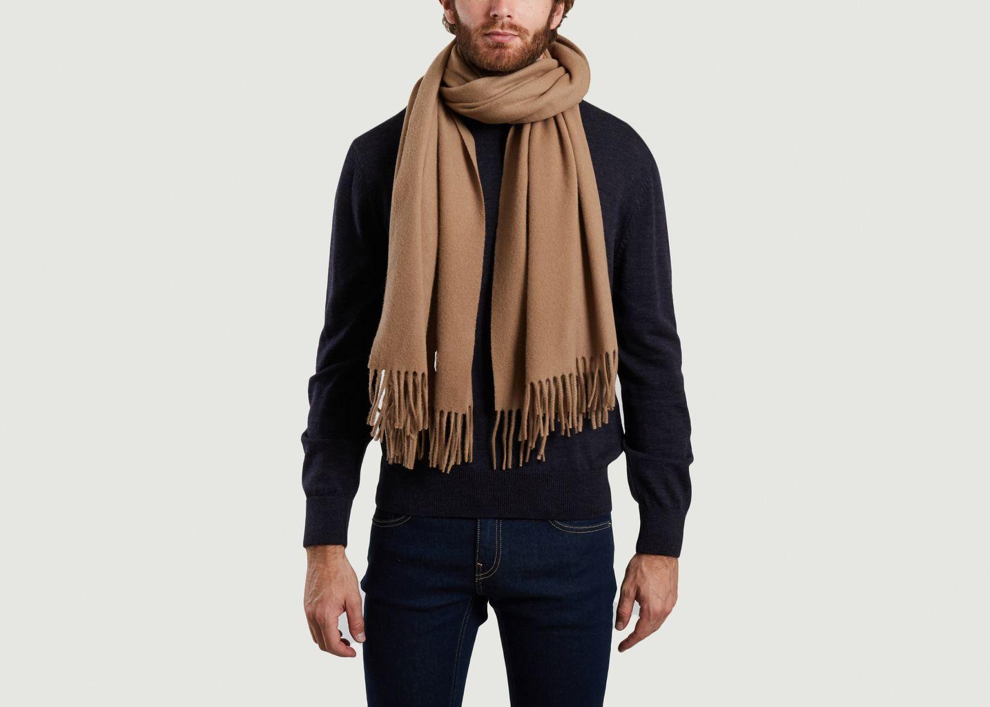 Echarpe en laine vierge logotypée - Maison Kitsuné