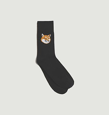 Fox Head logo socks
