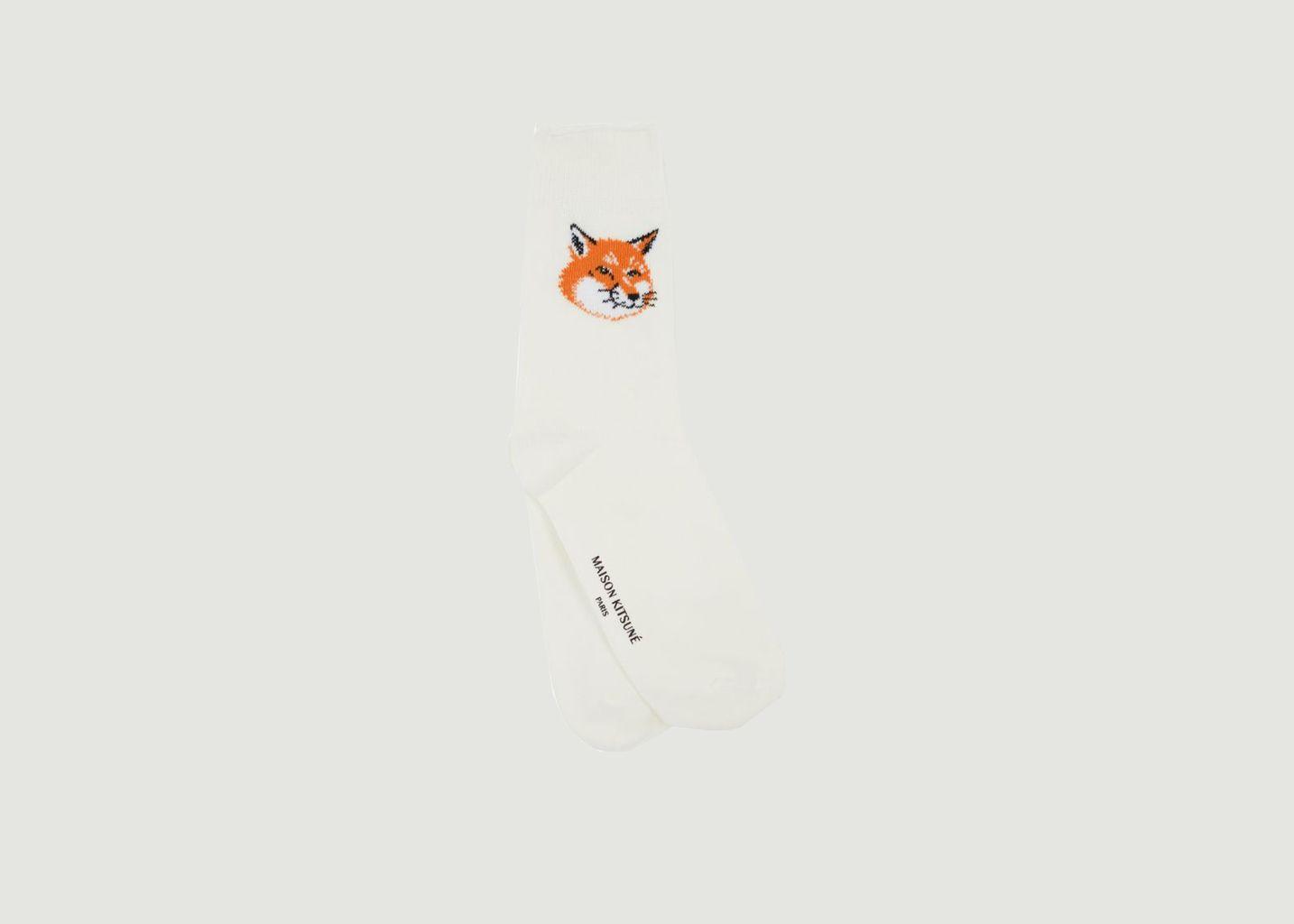 Chaussettes logotypées Fox Head - Maison Kitsuné