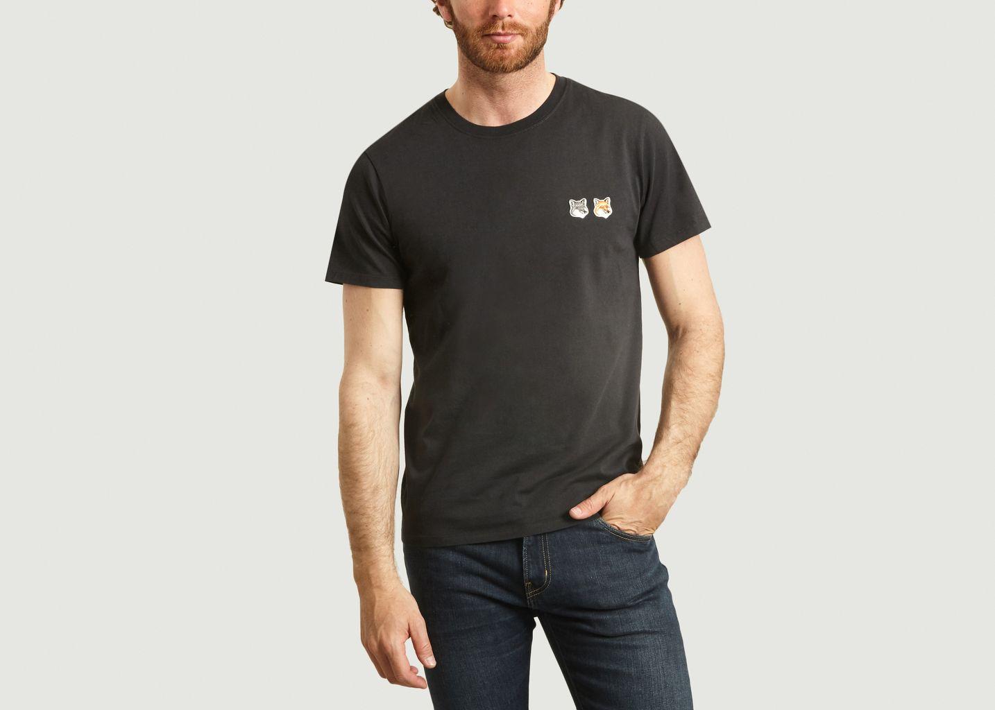 T-shirt brodé renards unisexe - Maison Kitsuné