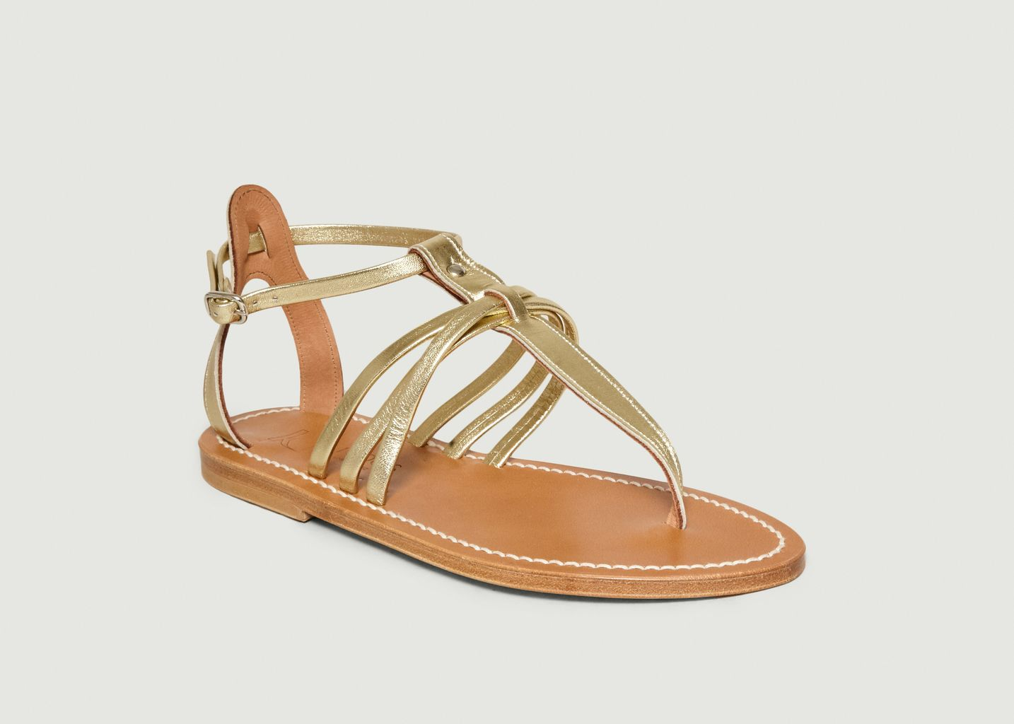 Sandales En Cuir Lamé Sophocle - K Jacques