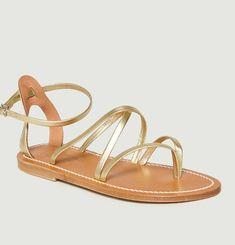 Sandales En Cuir Lamé Épicure