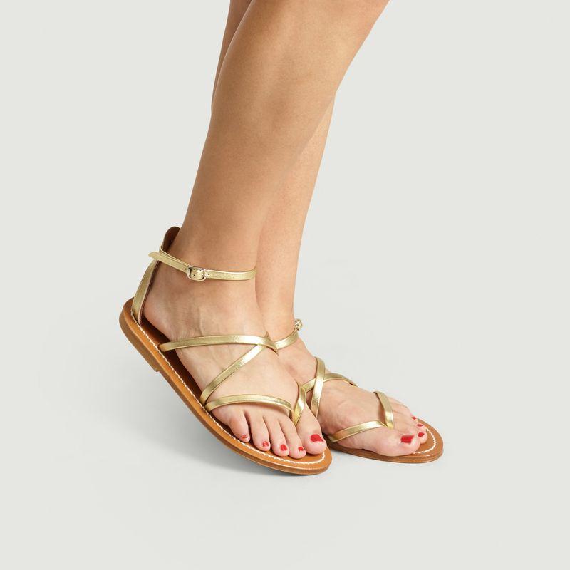 Sandales En Cuir Lamé Épicure - K Jacques