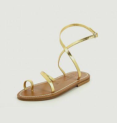 Sandales en cuir métallisé Loki