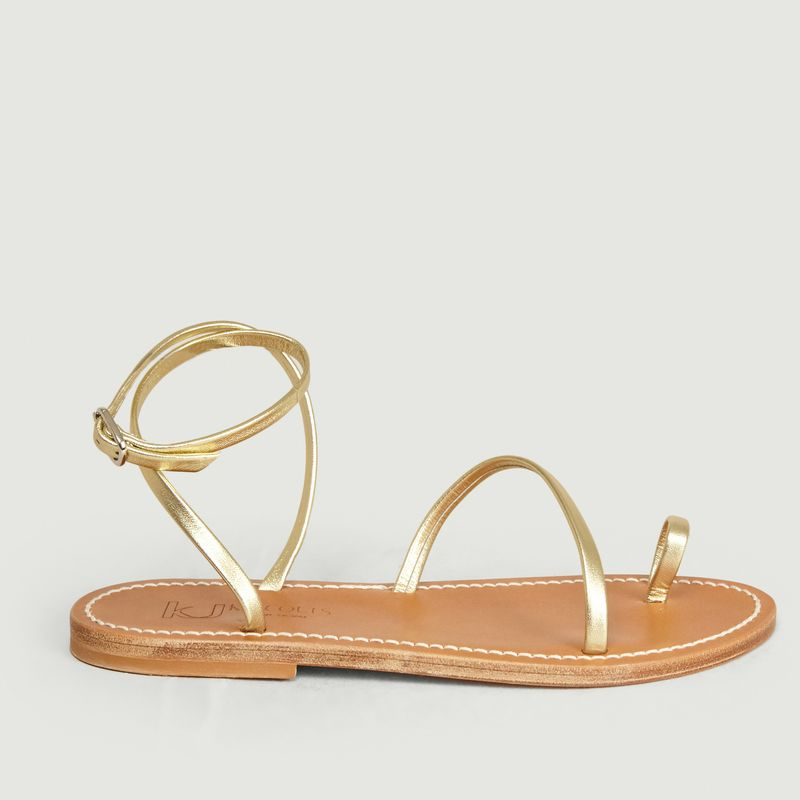 Sandales en cuir métallisé Loki - K Jacques