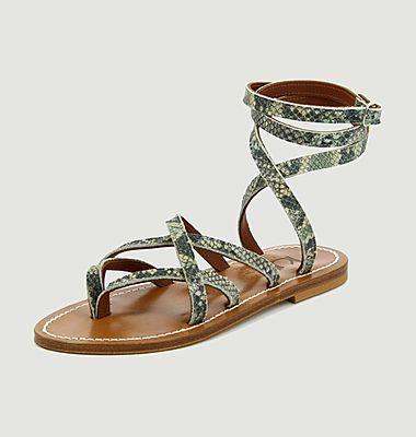 Sandales en cuir Zénobie