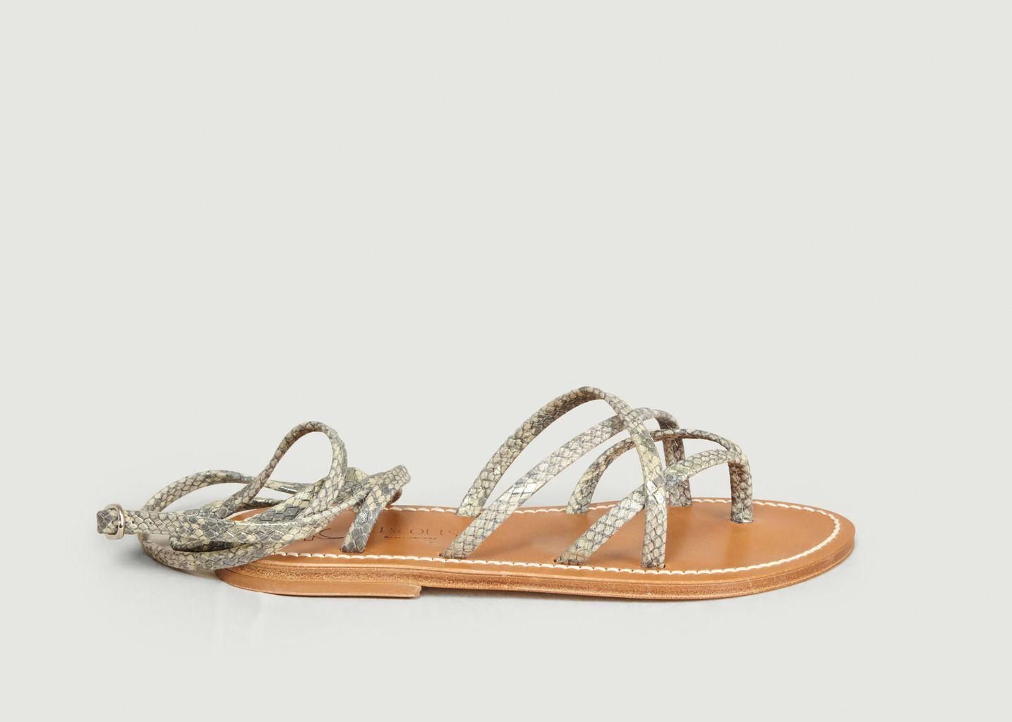 Sandales en cuir Zénobie - K Jacques