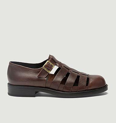 Sandales plates en cuir Dimori G