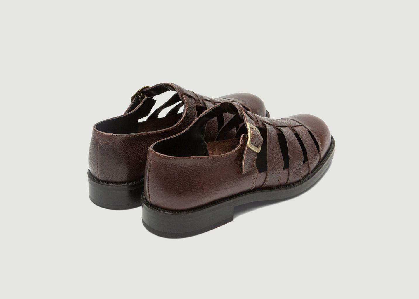 Sandales plates en cuir Dimori G - Kleman