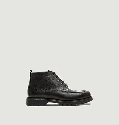 Olow x Kleman Olan leather high-top derbies