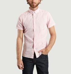 Linen Blend Short Sleeved Shirt