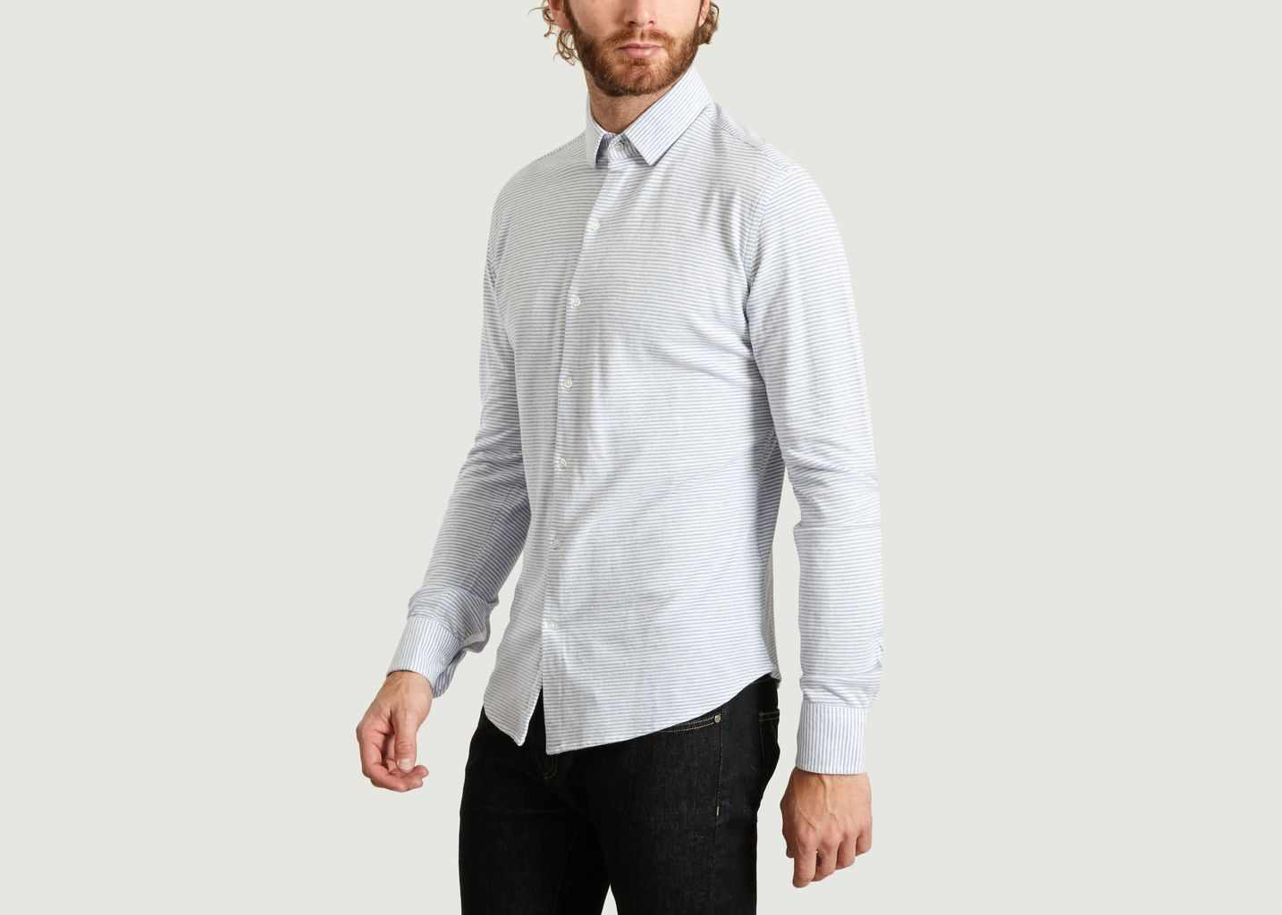 Chemise Jersey Stripes - Knowledge Cotton Apparel
