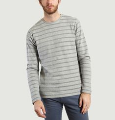 Striped Organic Cotton Sweatshirt