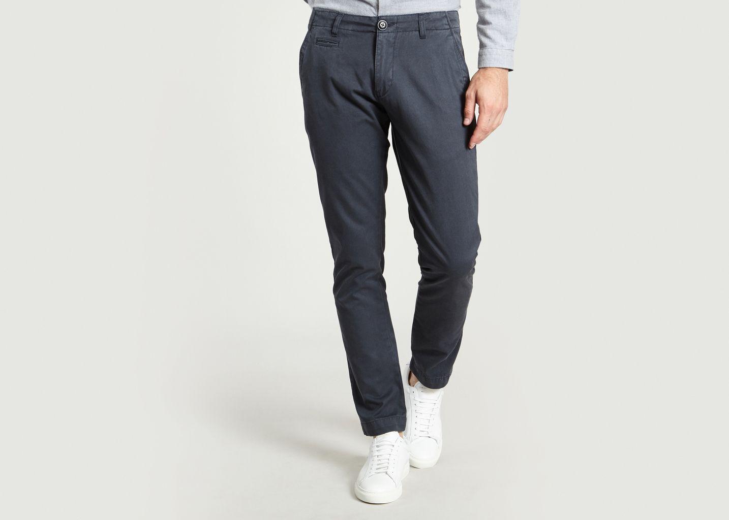 Pantalon Chino Bleu Marine Knowledge Cotton