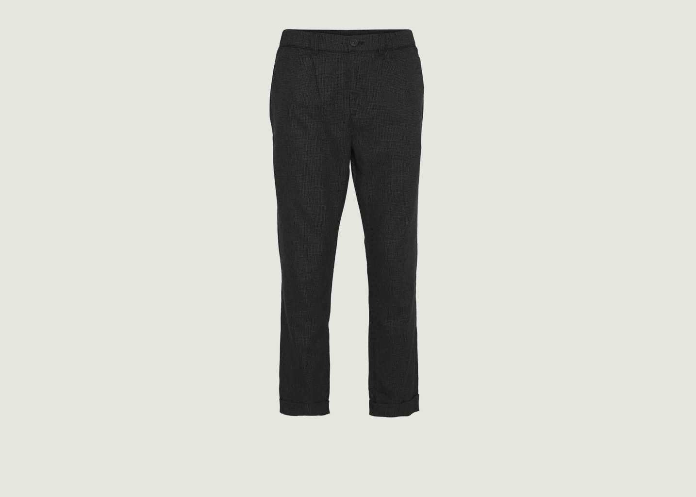 Pantalon Droit Motif Pied-De-Poule - Knowledge Cotton Apparel