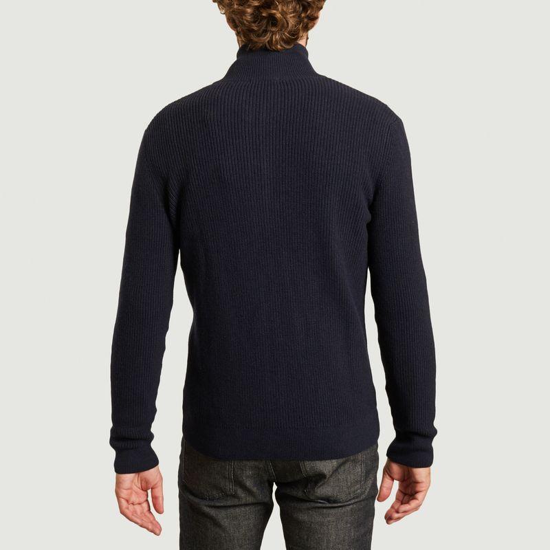 Cardigan zippé en coton bio et laine bio Valley - KCA