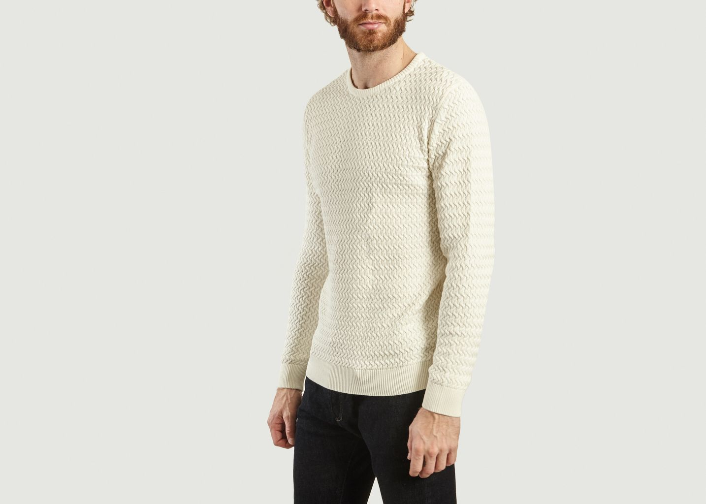 Pull En Coton Bio Maille Fantaisie - Knowledge Cotton Apparel
