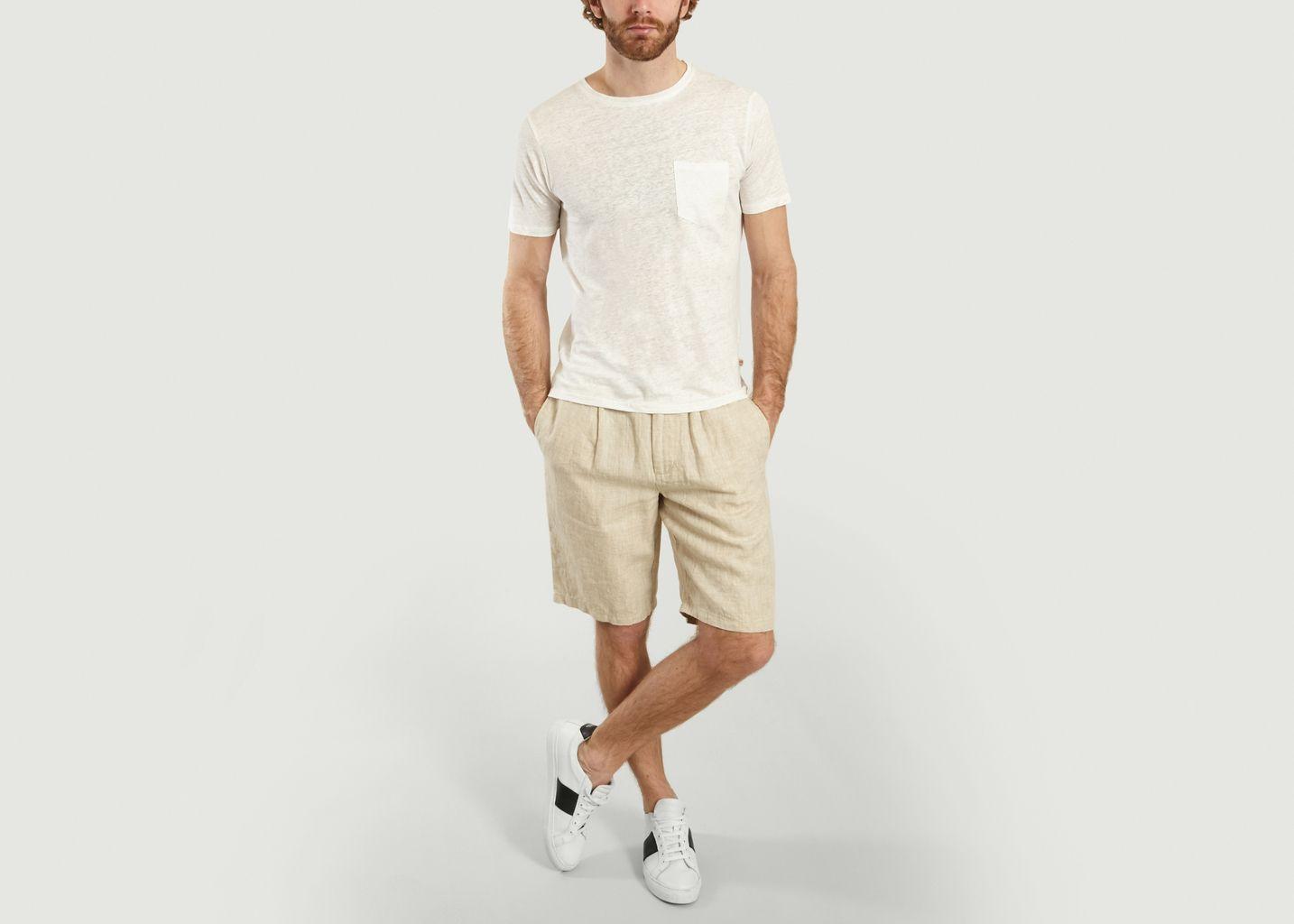 Short ample en lin Birch - Knowledge Cotton Apparel