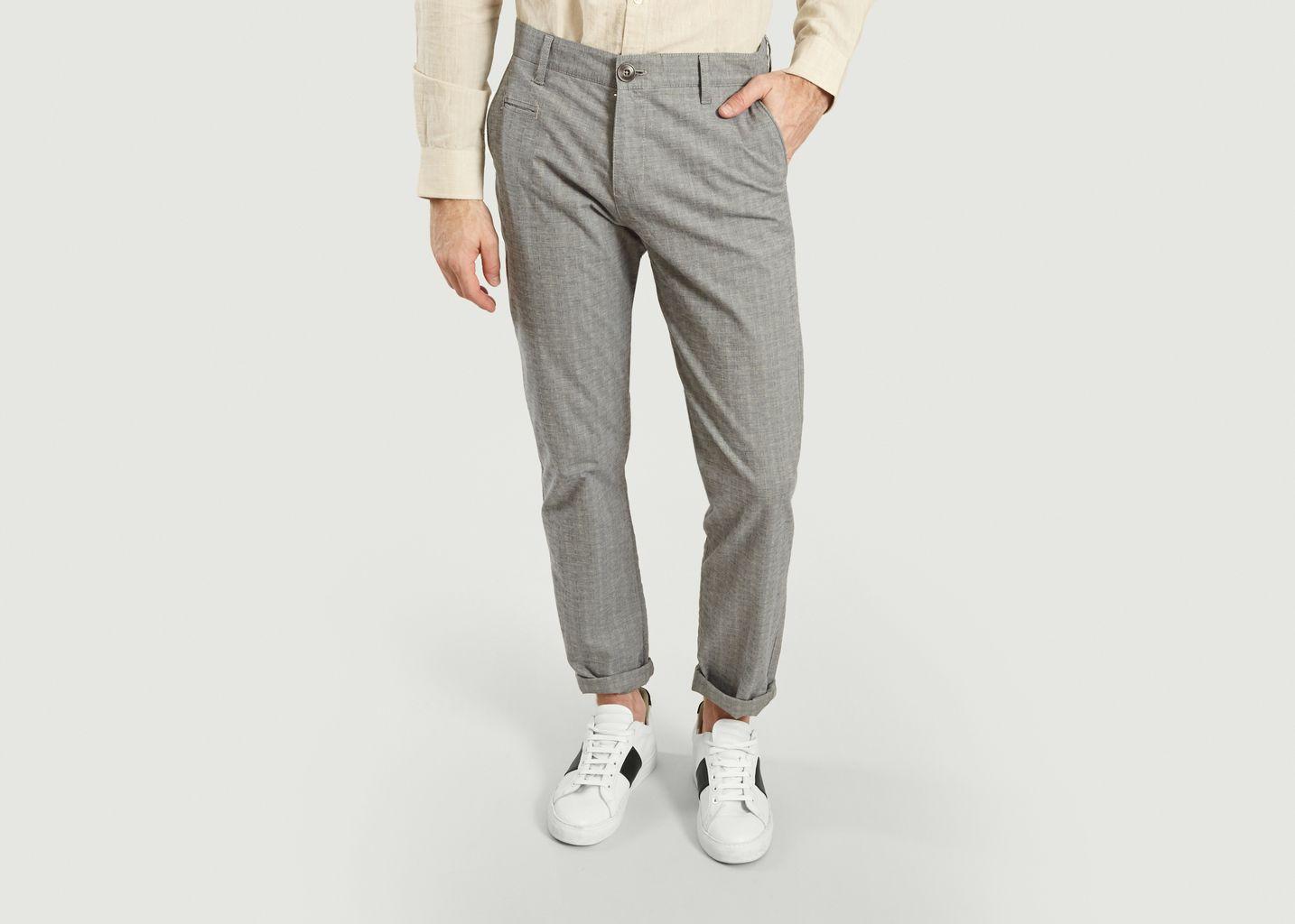 Pantalon chino à carreaux Chuck - Knowledge Cotton Apparel