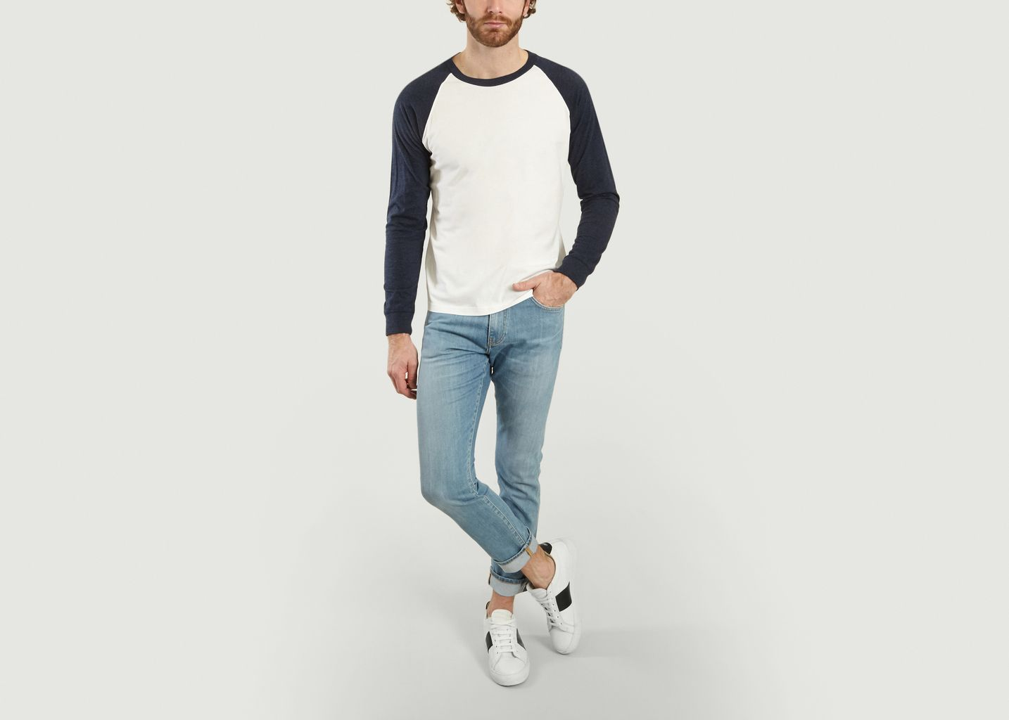 Jean slim fit selvedge Ash - Knowledge Cotton Apparel