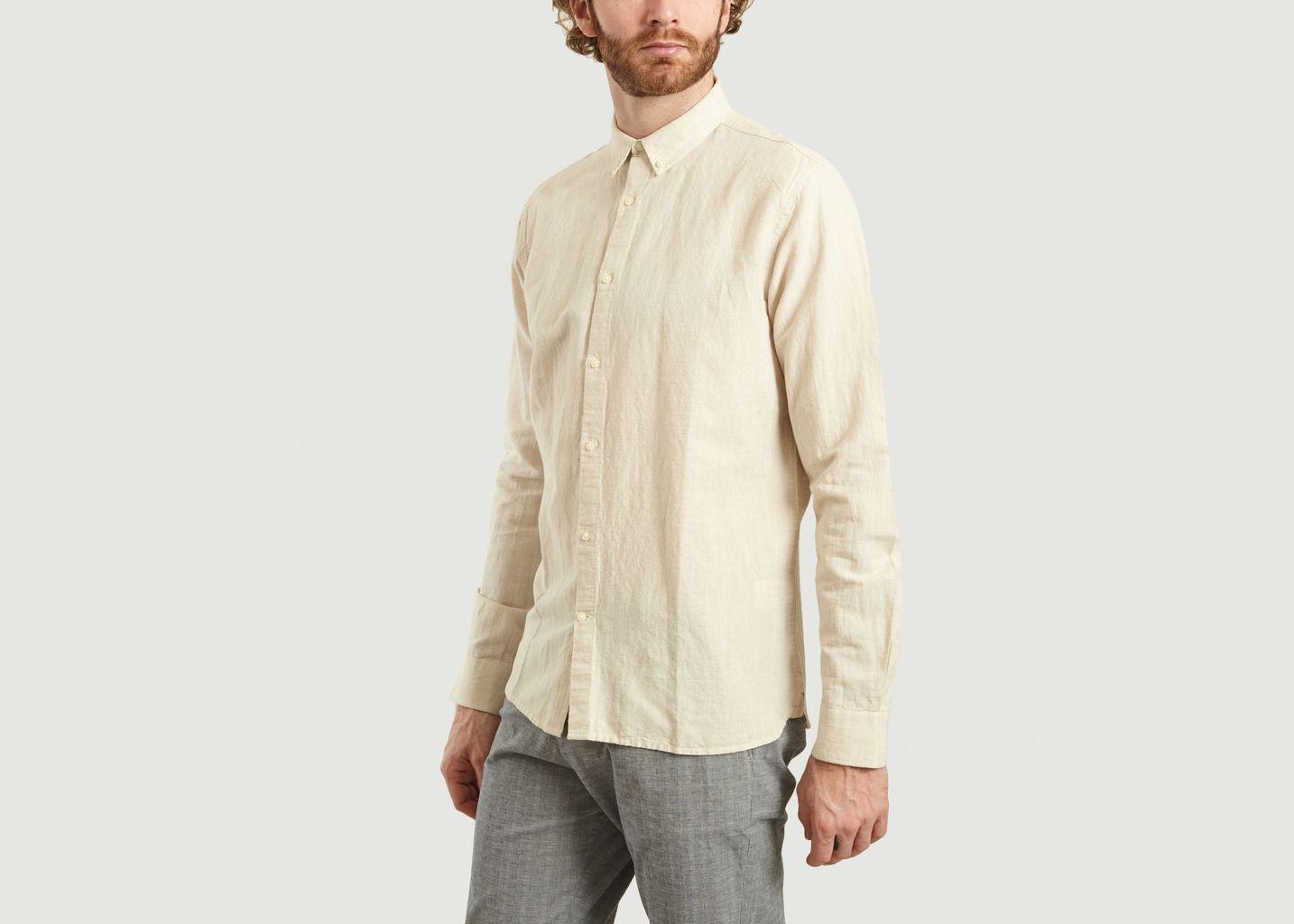 Chemise Larch Lin et Coton - Knowledge Cotton Apparel