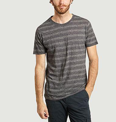 T-shirt rayé en coton bio et chanvre Alder