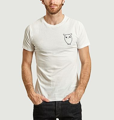 T-shirt hibou en coton bio Alder