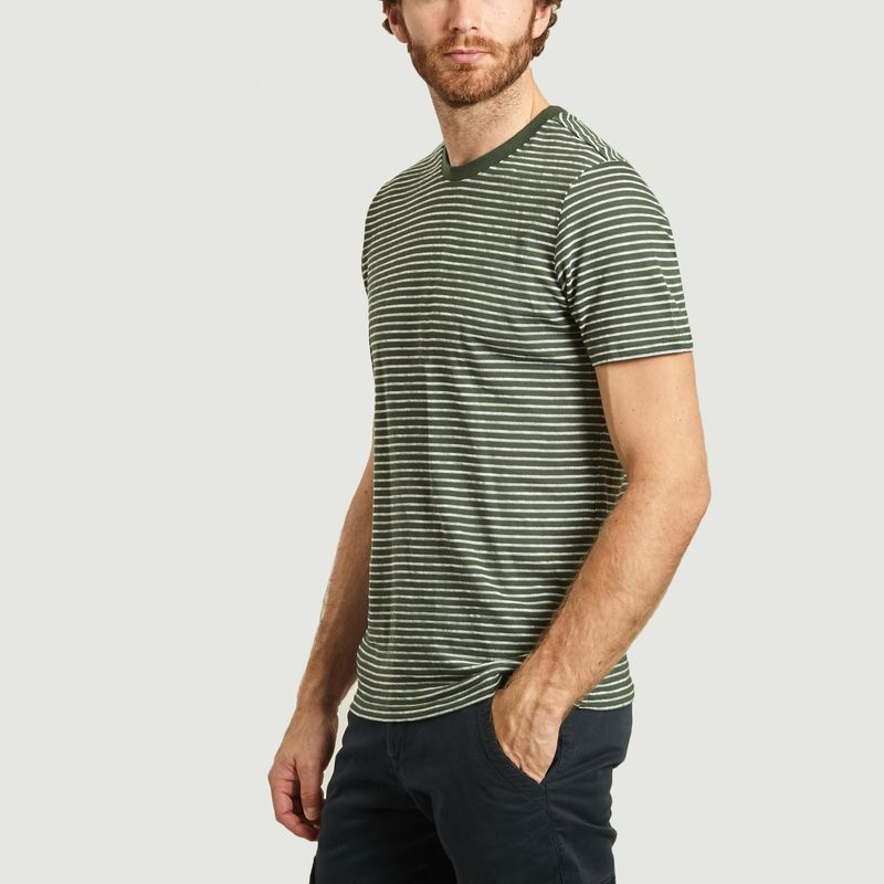 T-shirt rayé en coton bio Alder - KCA