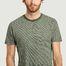 matière T-shirt rayé en coton bio Alder - KCA