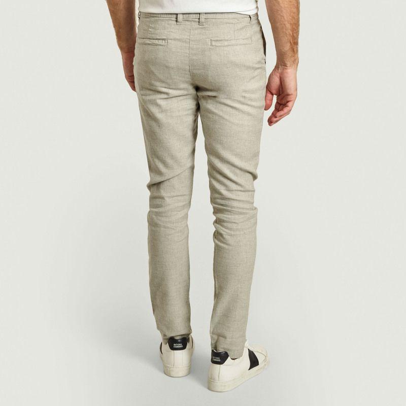 Pantalon droit en coton bio et lin Chuck - KCA