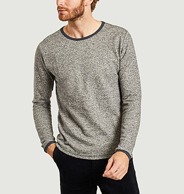 Sweatshirt rayé en chanvre et coton bio Walnut