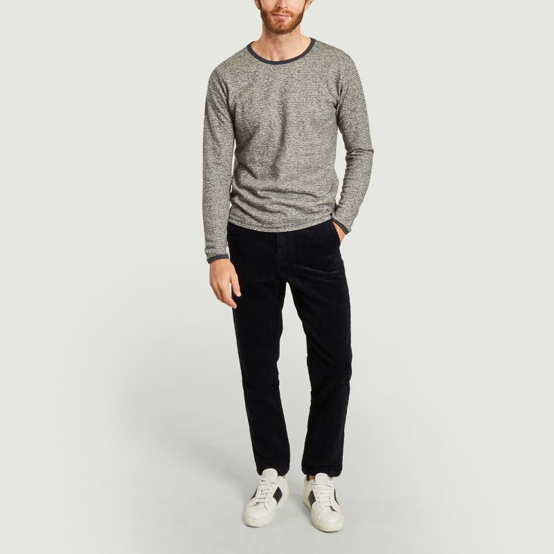Sweatshirt rayé en chanvre et coton bio Walnut - KCA