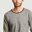 matière Sweatshirt rayé en chanvre et coton bio Walnut - KCA