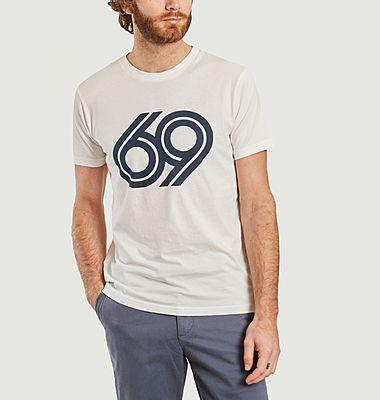 T-shirt en coton bio imprimé 69 Alder