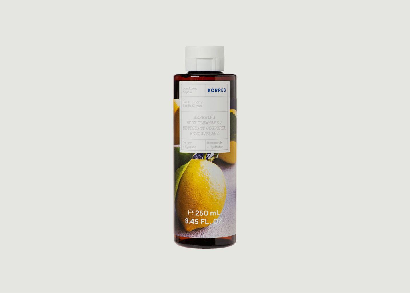 Gel douche basilic citron 250ml - Korres