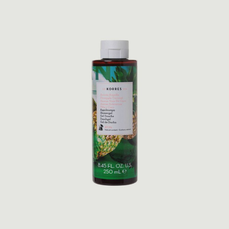 Gel douche ananas coco 250ml  - Korres