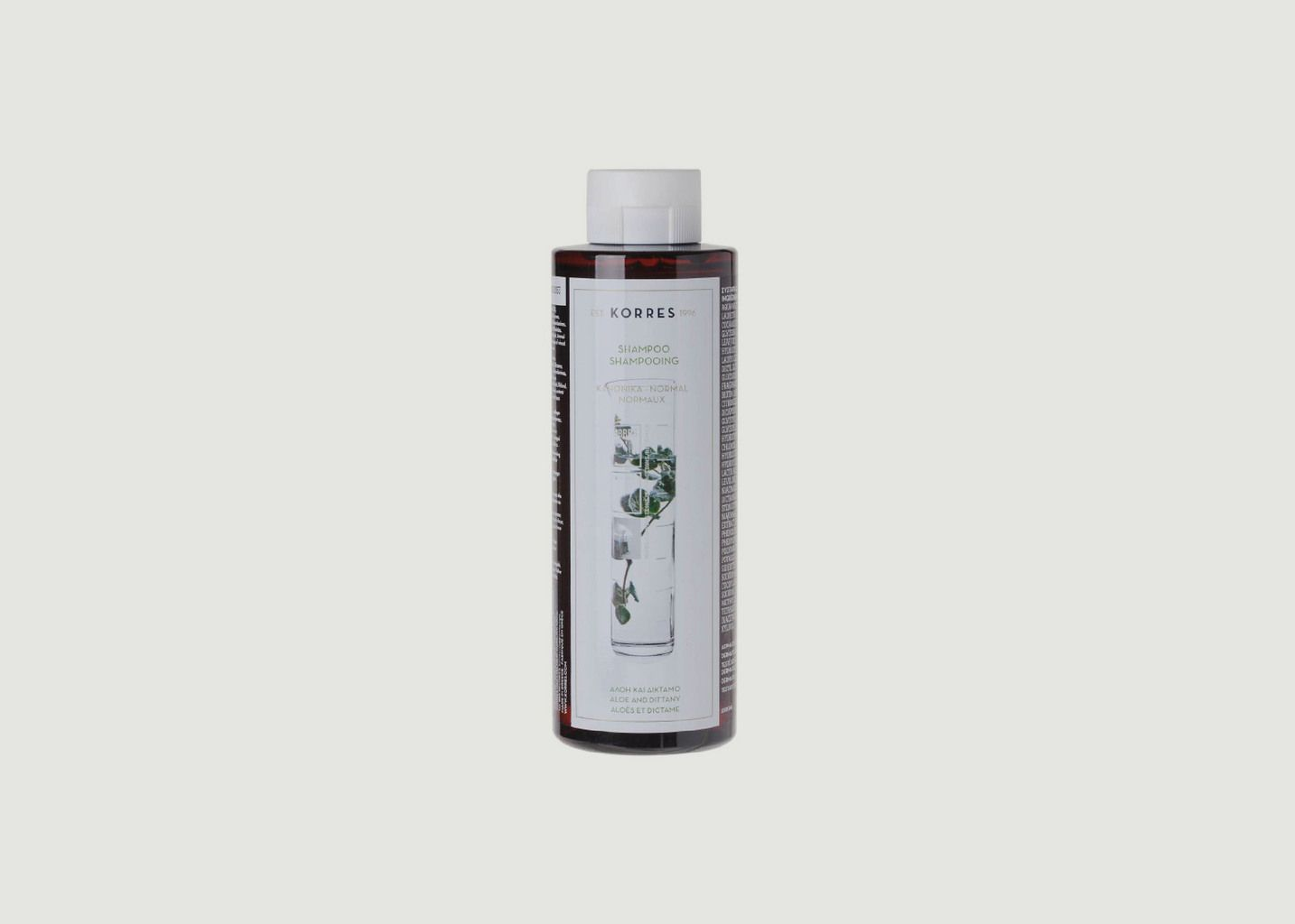 Shampooing cheveux normaux Aloes & Dictame 250ml - Korres
