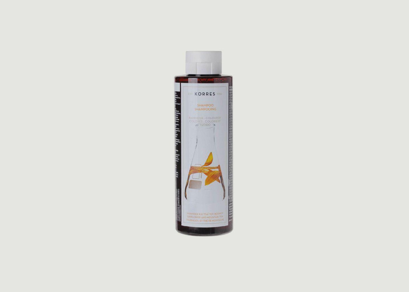Shampooing cheveux colorés - tournesol & thé de montagne 250ml - Korres