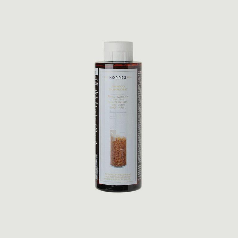 Shampooing cheveux fins sans volume - protéines de riz & tilleul  250ml - Korres