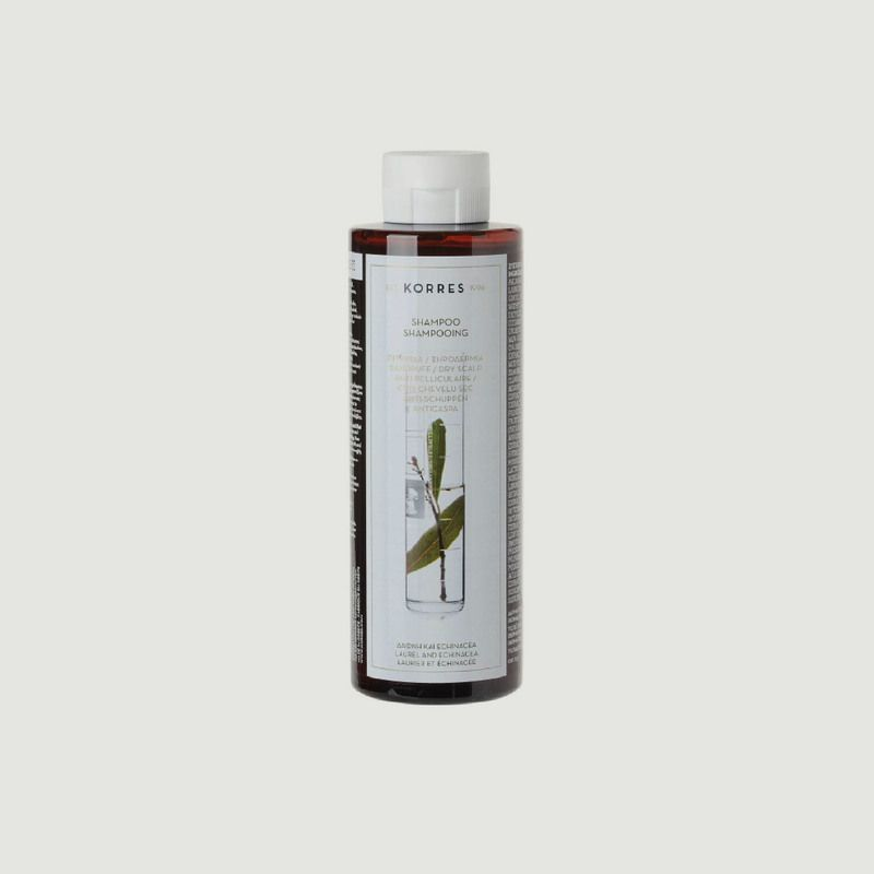 Shampooing anti-pelliculaire & cuir chevelu sec - laurier & echinacée 250ml - Korres