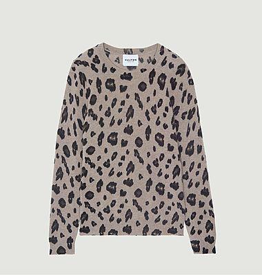 Dorita jaguar pattern cashmere sweater