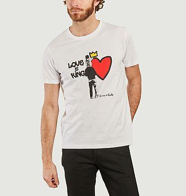 T-shirt Love is King Kulte x Sunra
