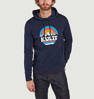 Rainbow printed organic cotton hoodie