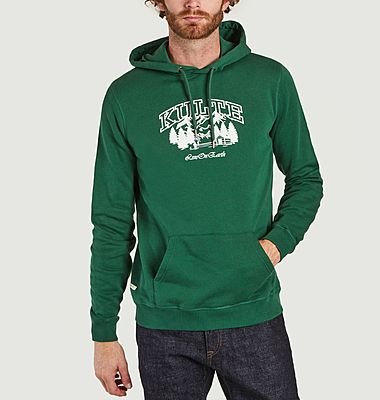 Hiking printed organic cotton hoodie