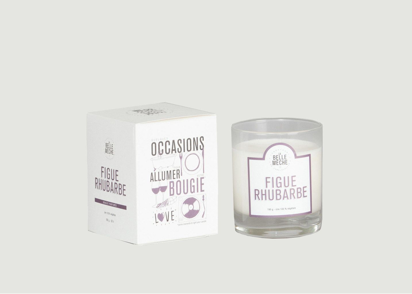 Bougie Figue Rhubarbe - La Belle Mèche