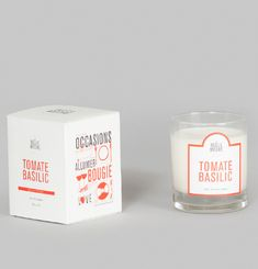 Tomato Basil Scented Candle
